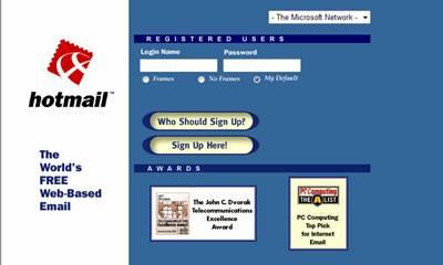 值得珍藏的记忆:Hotmail发展历程(多图)
